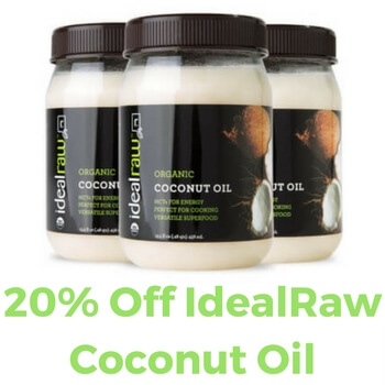 Idealraw coconut oil Coupon Code
